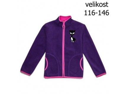 WOLF dívčí fialová fleecová mikina B2835 vel. 116-146