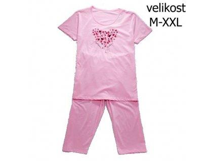 WOLF dámské pyžamo 3/4 růžové D2742