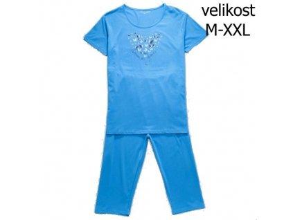 WOLF dámské pyžamo 3/4 modré D2742