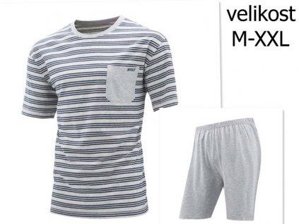 WOLF pánské krátké pyžamo šedé S2975