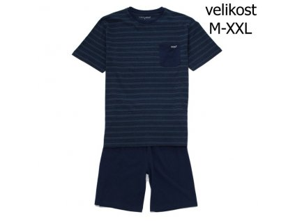 WOLF pánské krátké pyžamo tm. modré S2975