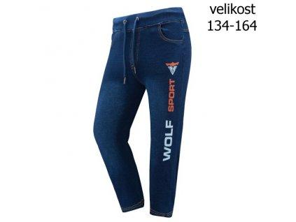 WOLF chlapecké riflové 3/4 šortky modré T2938 vel. 134-164