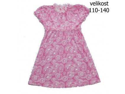 WOLF dívčí růžové šatičky S2715 vel.  110-140