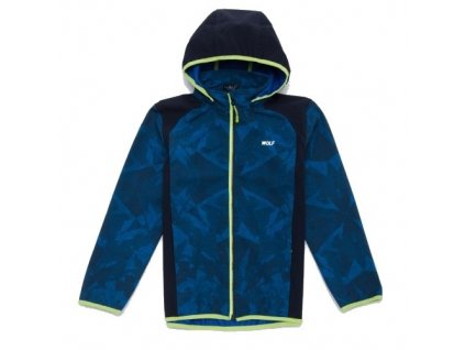 WOLF chlapecká jarní softshellová bunda tm. modrá B2965 vel. 104-140