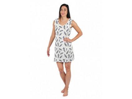 EVONA Dámské letní šaty bez rukávů peří
