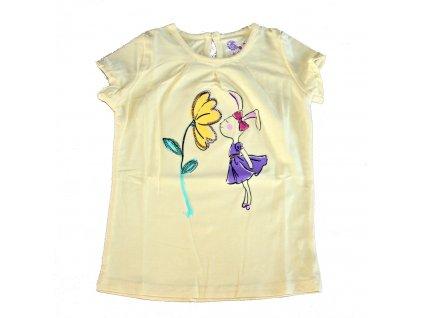 Dívčí tričko žluté Wolf S2410 vel. 80-110
