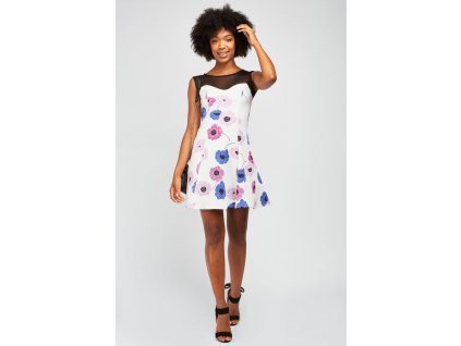 flower print illusion dress white multi 112778 4