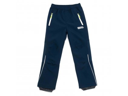 Chlapecké zateplené softshellové kalhoty petrolejové Wolf B2994A vel. 116-146