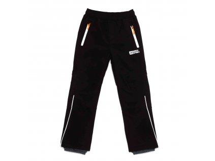 Chlapecké zateplené softshellové kalhoty černé Wolf B2994A vel. 116-146