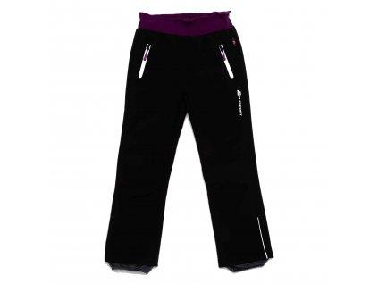 Dívčí zateplené softshellové kalhoty černé Wolf B2992 vel. 116-146