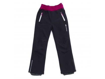 Dívčí zateplené softshellové kalhoty šedé Wolf B2992 vel. 116-146