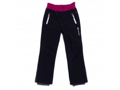 Dívčí zateplené softshellové kalhoty tm. modré Wolf B2992 vel. 116-146