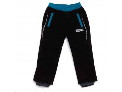 Chlapecké zateplené softshellové kalhoty černé Wolf B2993 vel. 86-110