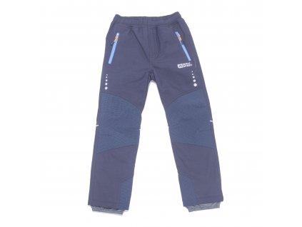 Chlapecké zateplené softshellové kalhoty tmavě modré Wolf B2997 vel. 116-146