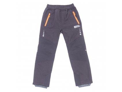 Chlapecké zateplené softshellové kalhoty černé Wolf B2997 vel. 116-146