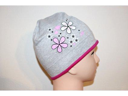 Dívčí čepice Viktorka šedá