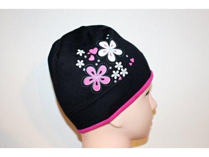 Dívčí čepice Viktorka černá