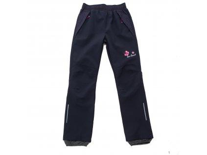 Dívčí softshellové kalhoty šedé Wolf B2082 vel. 116-146