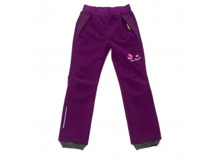 Dívčí softshellové kalhoty fialové Wolf B2082 vel. 116-146