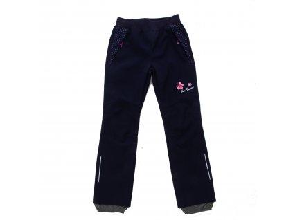 Dívčí softshellové kalhoty tm. modré Wolf B2082 vel. 116-146