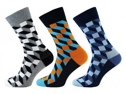 Ponožky Happy Socks kostka 1004 - 3 páry