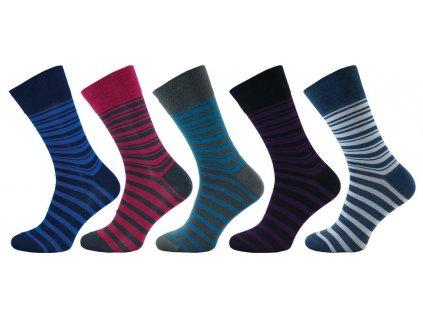 Ponožky comfort proužek 1014 - 5 párů