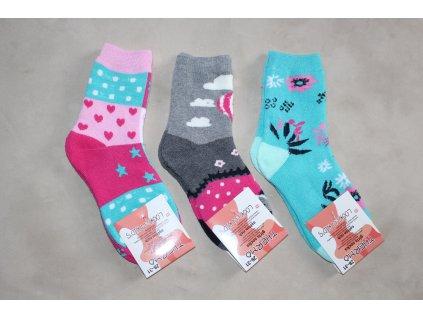 Dívčí thermo ponožky 3 ks