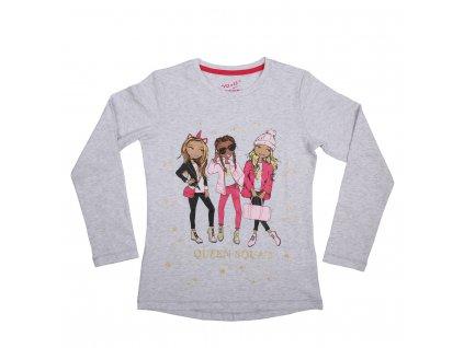 Dívčí tričko šedé Wolf S2042A vel. 116-146