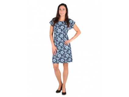 Dámské krátké šaty JEANS květy