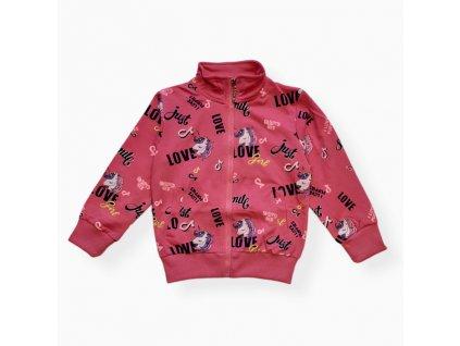 Dívčí mikina růžová KM9906 Kugo