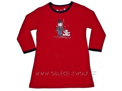 Dívčí červená noční košile