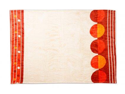 Deka SLEEP WELL® - mikroflanel tisk 150x200 cm oranžový vzor
