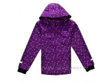 Dívčí softshellová bunda fialová B2762 vel. 104-146