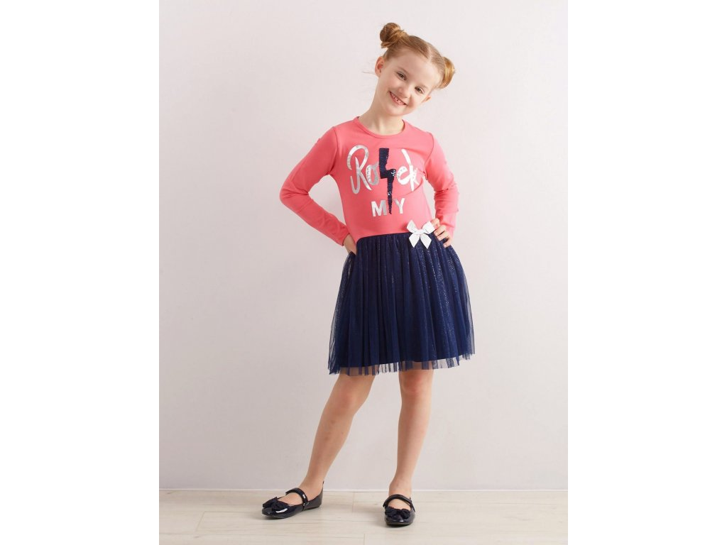 pol pl Rozowa sukienka z bawelny dla dziewczynki 315248 9