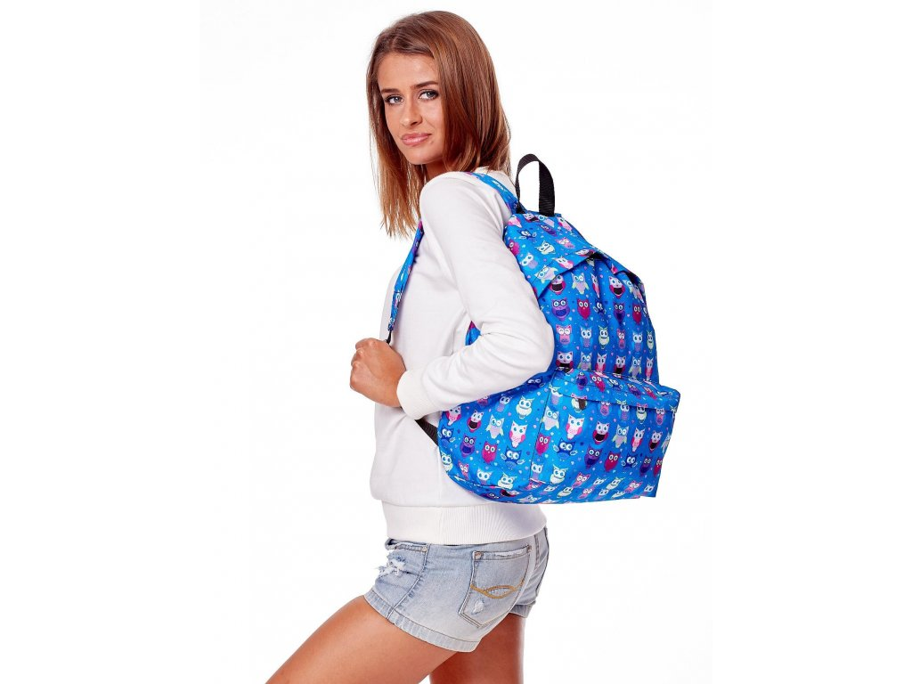 pol pl Niebieski plecak w kolorowe sowy 280280 3