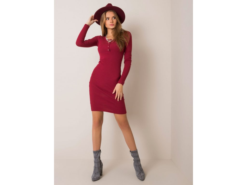 pol pl Bordowa sukienka Mercy RUE PARIS 354805 2