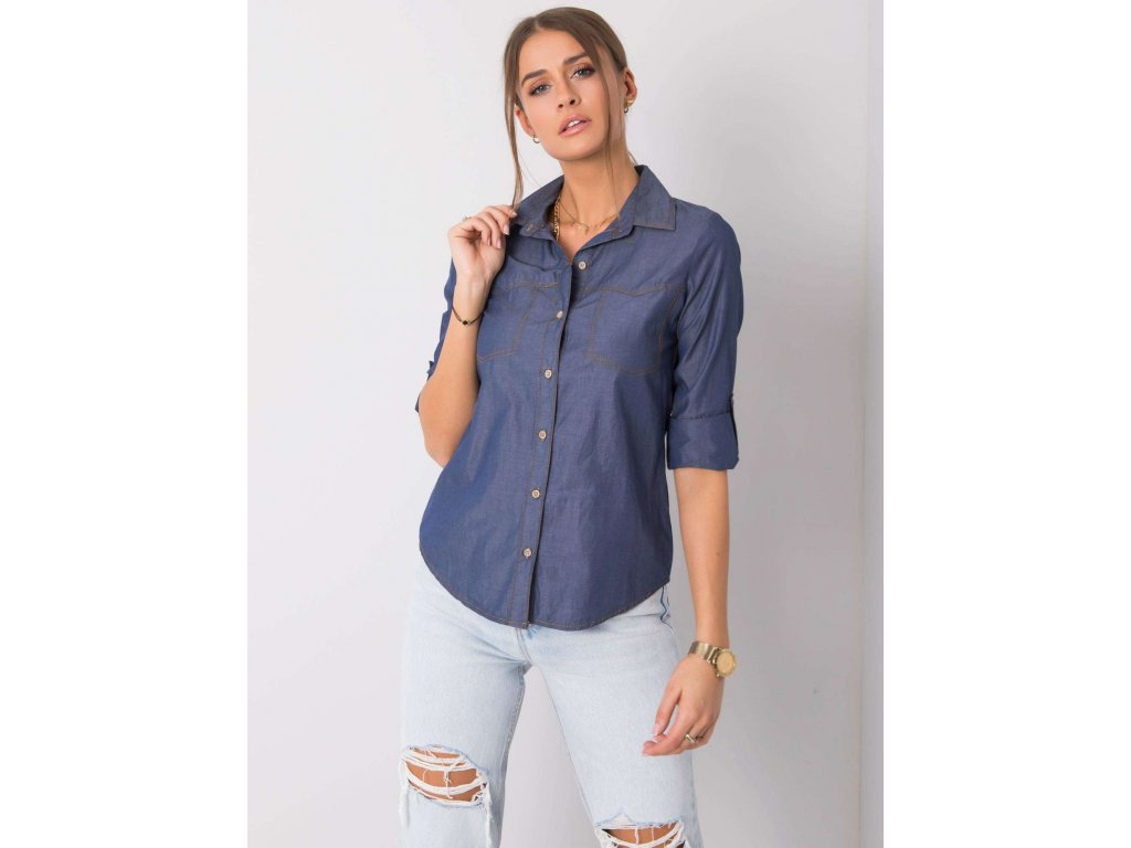 pol pl Niebieska koszula Amber RUE PARIS 354874 1