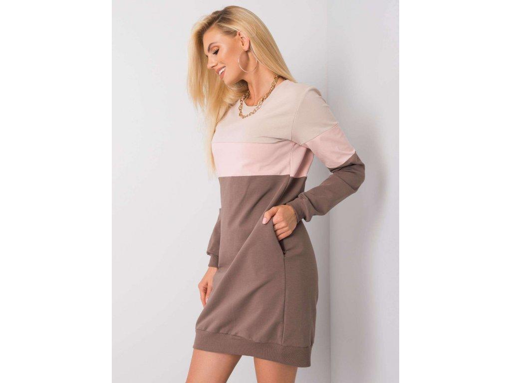 pol pl Bezowo rozowa sukienka Feliciana RUE PARIS 356101 2