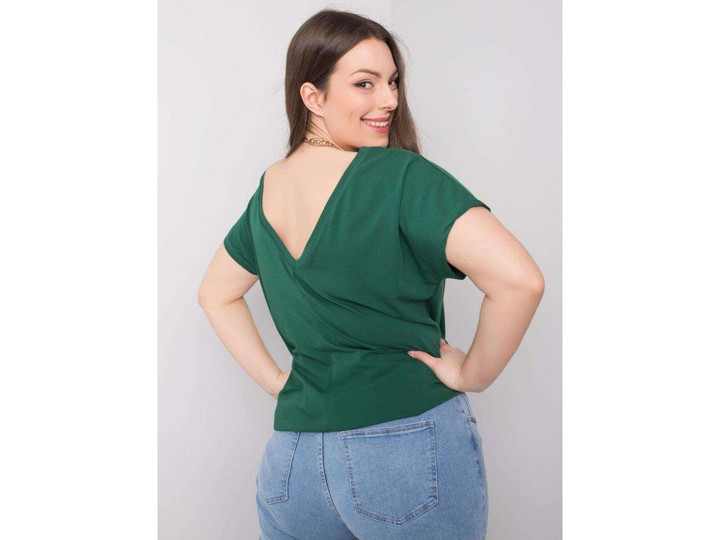 pol pl Ciemnozielony t shirt plus size Beverly 361524 1