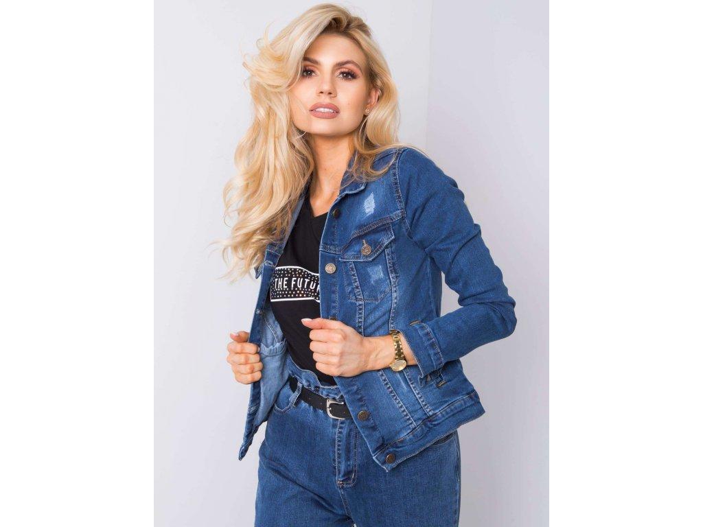 pol pl Niebieska kurtka jeansowa Erina RUE PARIS 362125 1