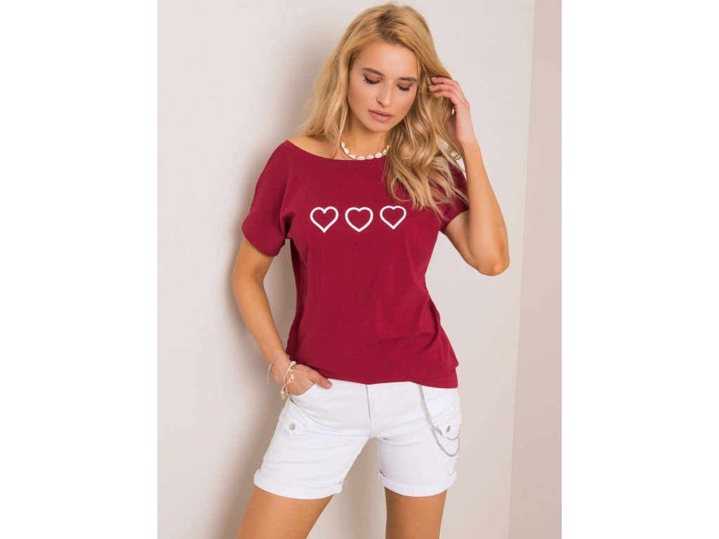 pol pl Bordowy t shirt Amor RUE PARIS 351315 1
