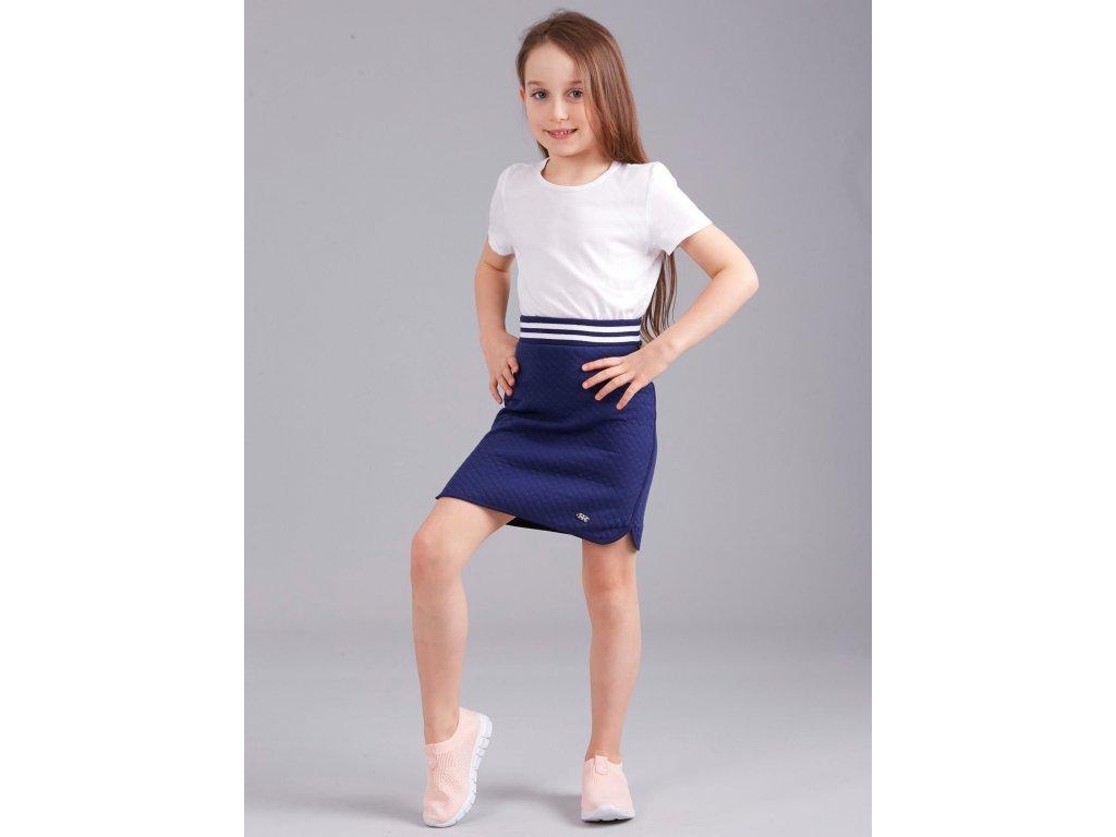 pol pl Granatowa spodnica dresowa dziewczeca 303622 5