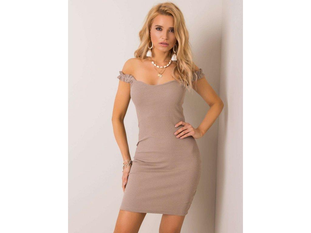 pol pl Ciemnobezowa sukienka Majorca RUE PARIS 351510 1