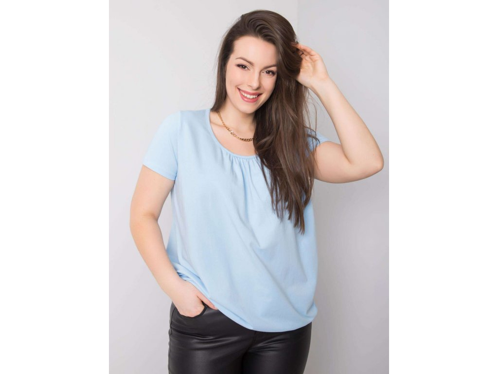 pol pl Jasnoniebieska bluzka plus size z bawelny Celeste 361536 1