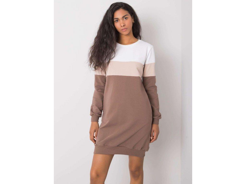 pol pl Bialo brazowa sukienka Feliciana RUE PARIS 364940 1