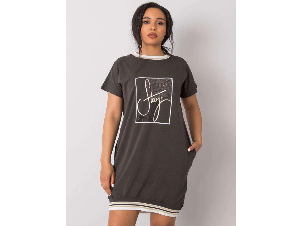 pol pl Ciemna khaki sukienka plus size z aplikacja Jadis 367158 1
