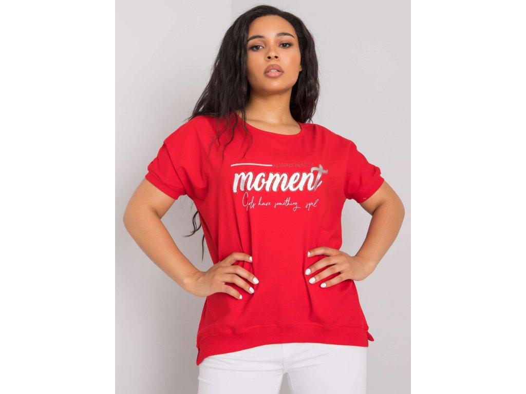 pol pl Czerwona damska bluzka plus size Jassmine 364975 1