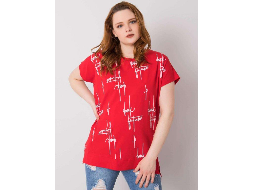 pol pl Czerwona bluzka plus size z bawelny Claribel 364990 1