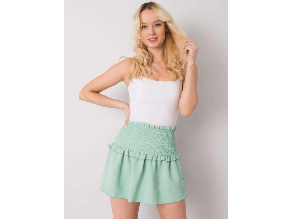 pol pl Mietowa mini spodnica Joanna OCH BELLA 367728 1