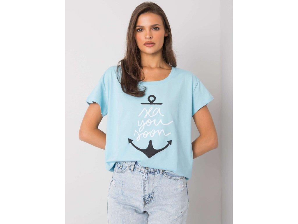 pol pl Jasnoniebieski t shirt z nadrukiem Silva 367601 1
